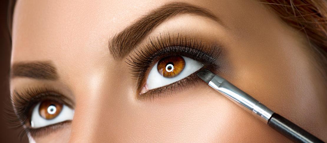 Trucco per gli occhi marroni