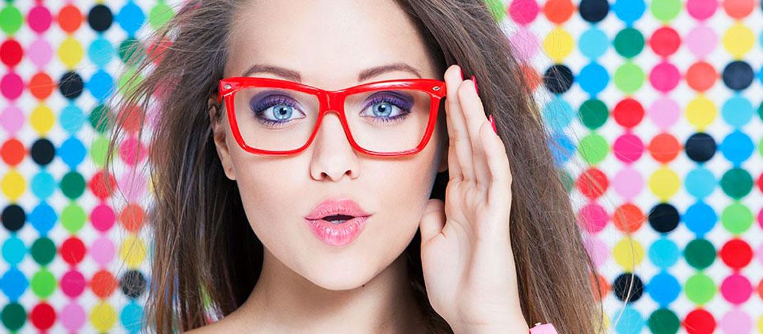 Make up con gli occhiali