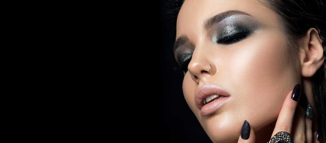 5 make-up da realizzare con i glitter